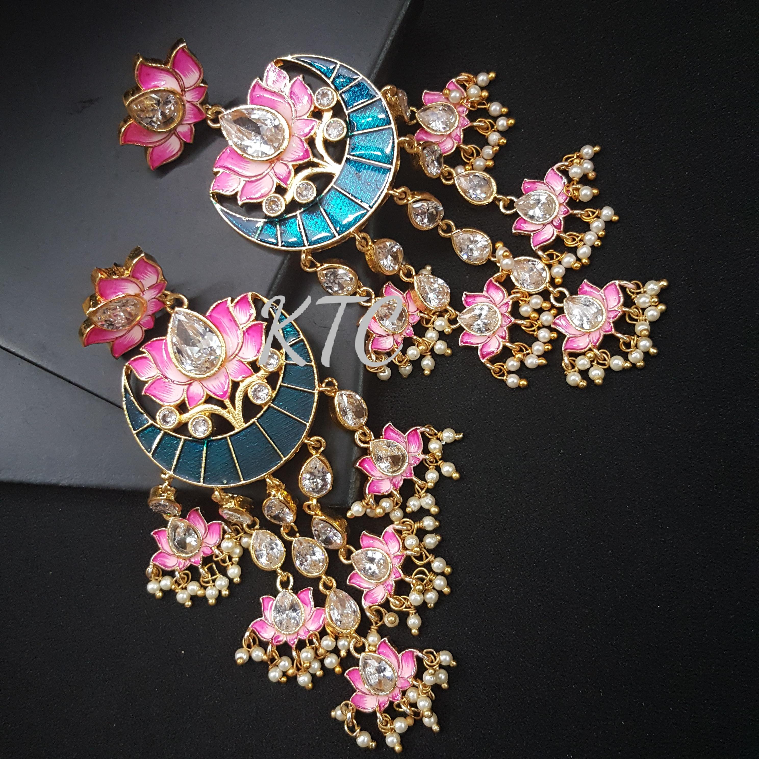 Royal Lotus Meena Earing