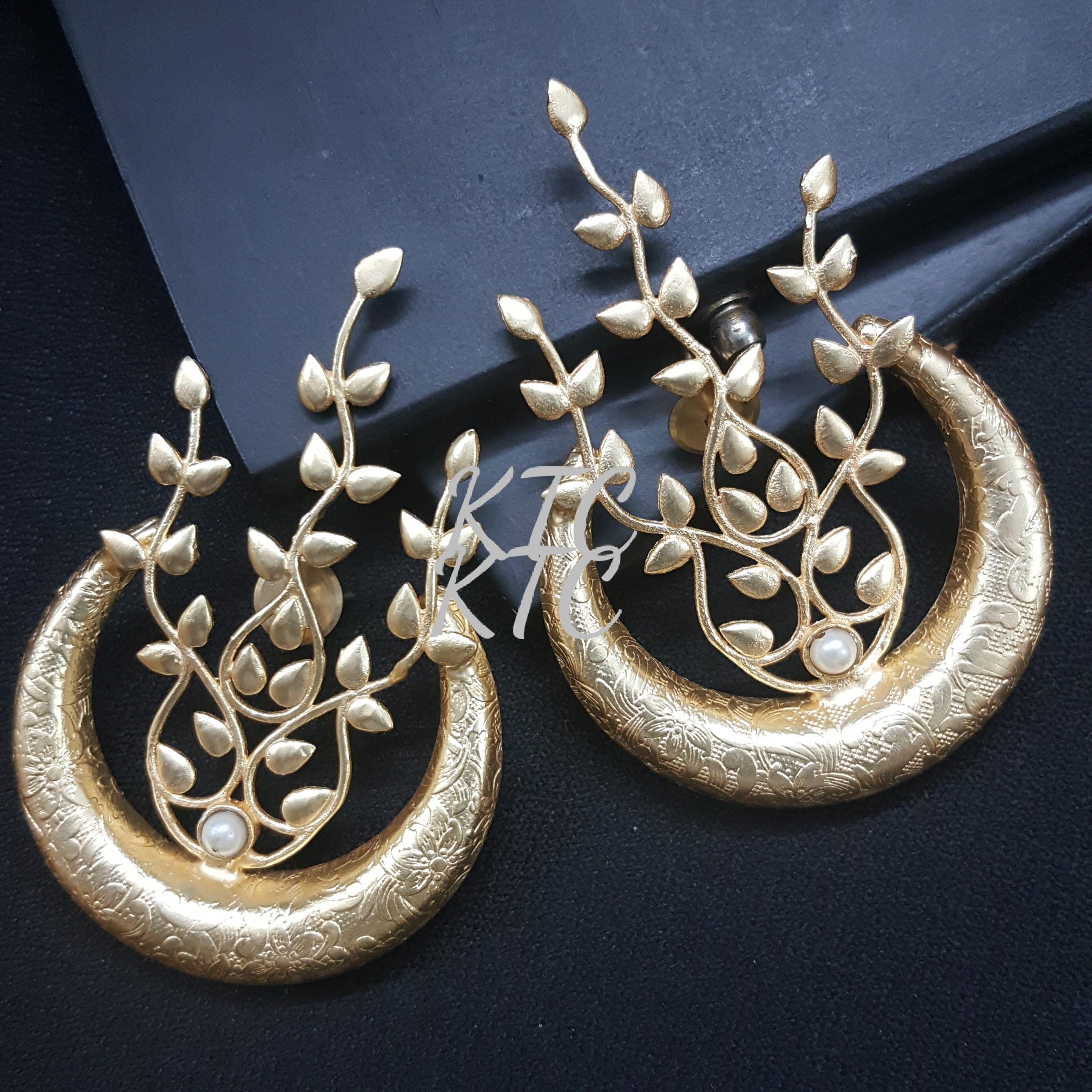 Designer Brass Earing