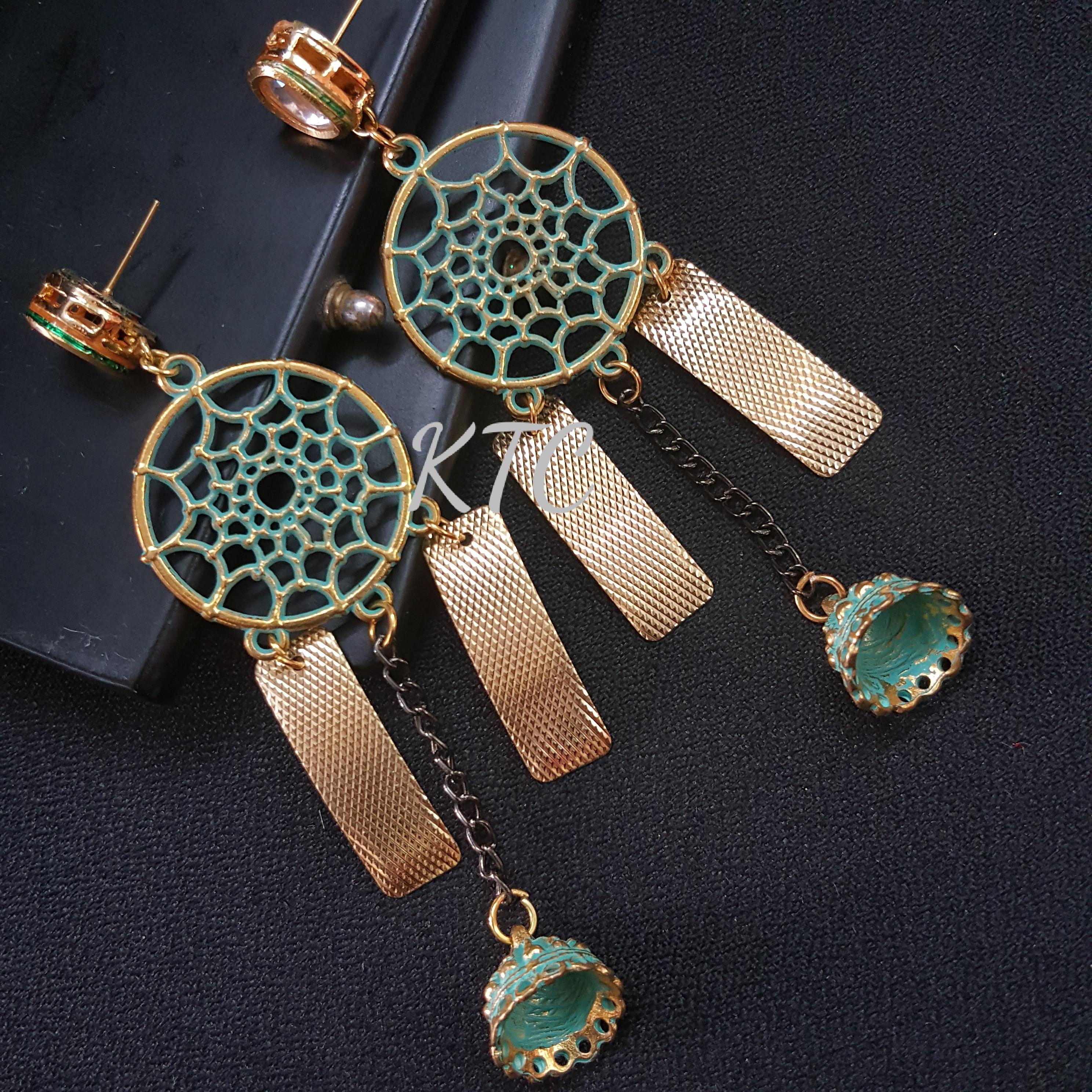 Gold Matte Designer Earing